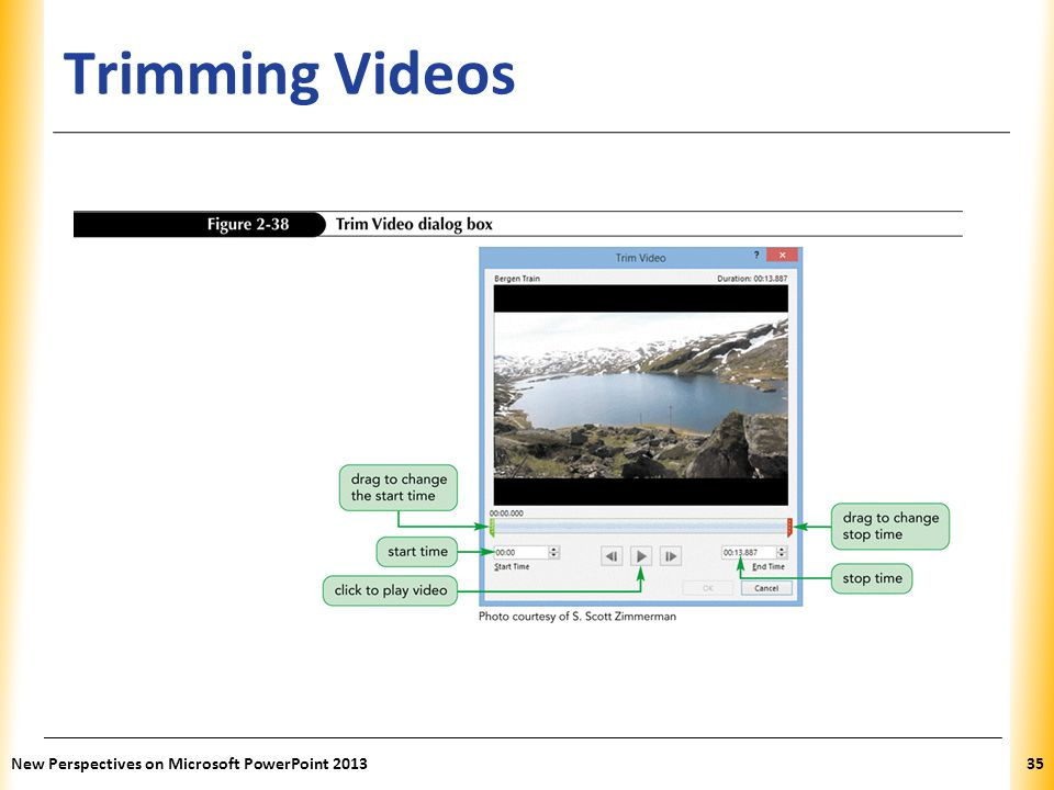 XP Trimming Videos New Perspectives on Microsoft PowerPoint 201335
