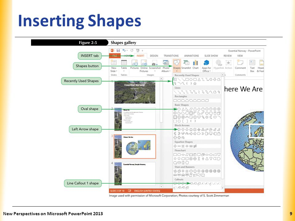 XP Inserting Shapes New Perspectives on Microsoft PowerPoint 20139