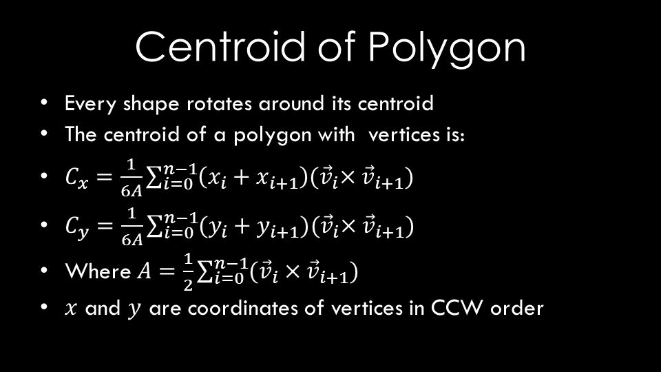 Centroid of Polygon
