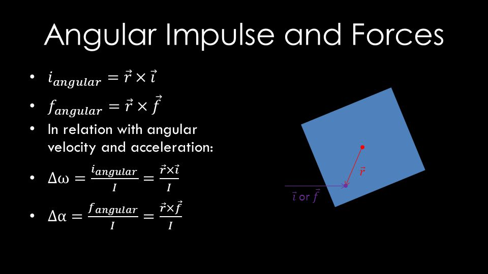 Angular Impulse and Forces
