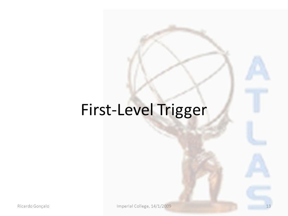 First-Level Trigger Ricardo GonçaloImperial College, 14/1/200913