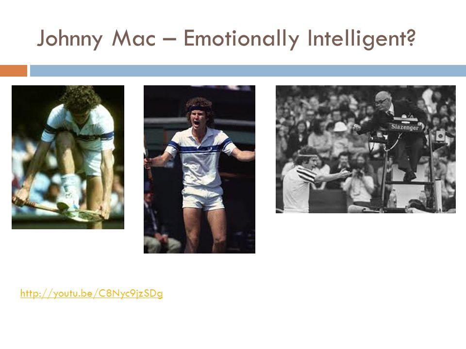 Johnny Mac – Emotionally Intelligent? http://youtu.be/C8Nyc9jzSDg