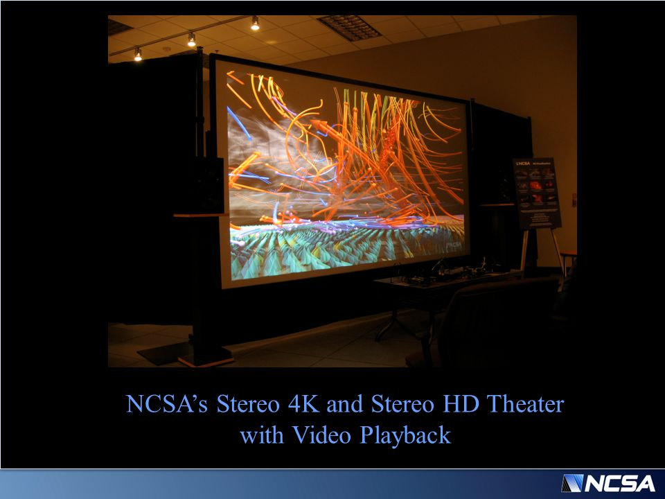 NCSA's Stereo 4K and Stereo HD Theater with Video Playback