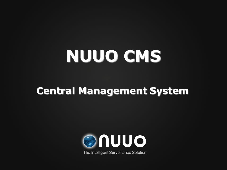 Central Management System NUUO CMS