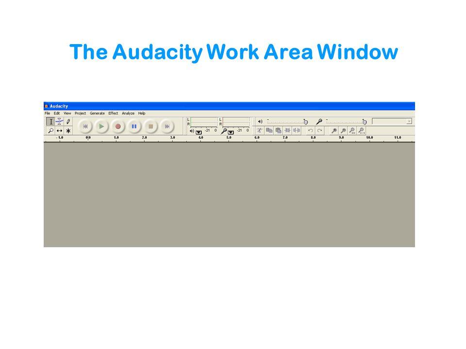 The Audacity Work Area Window