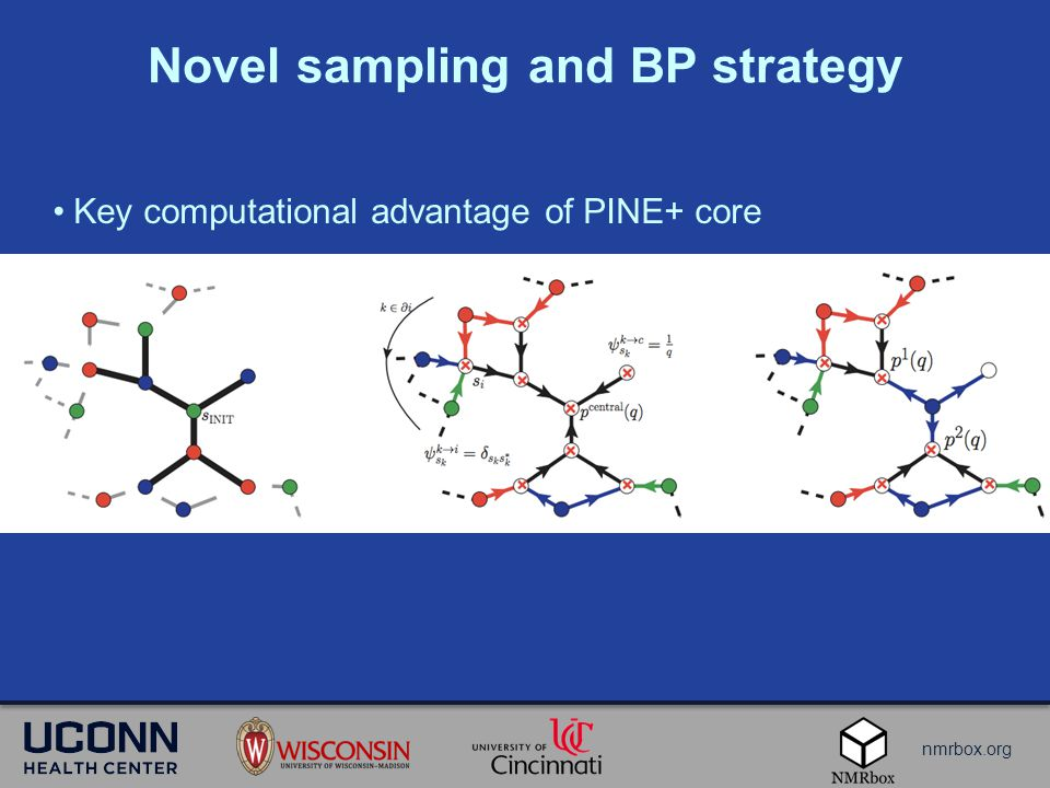 nmrbox.org Novel sampling and BP strategy Key computational advantage of PINE+ core