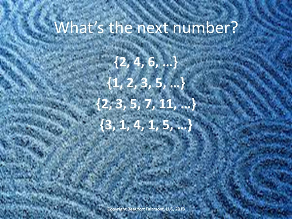 What's the next number.