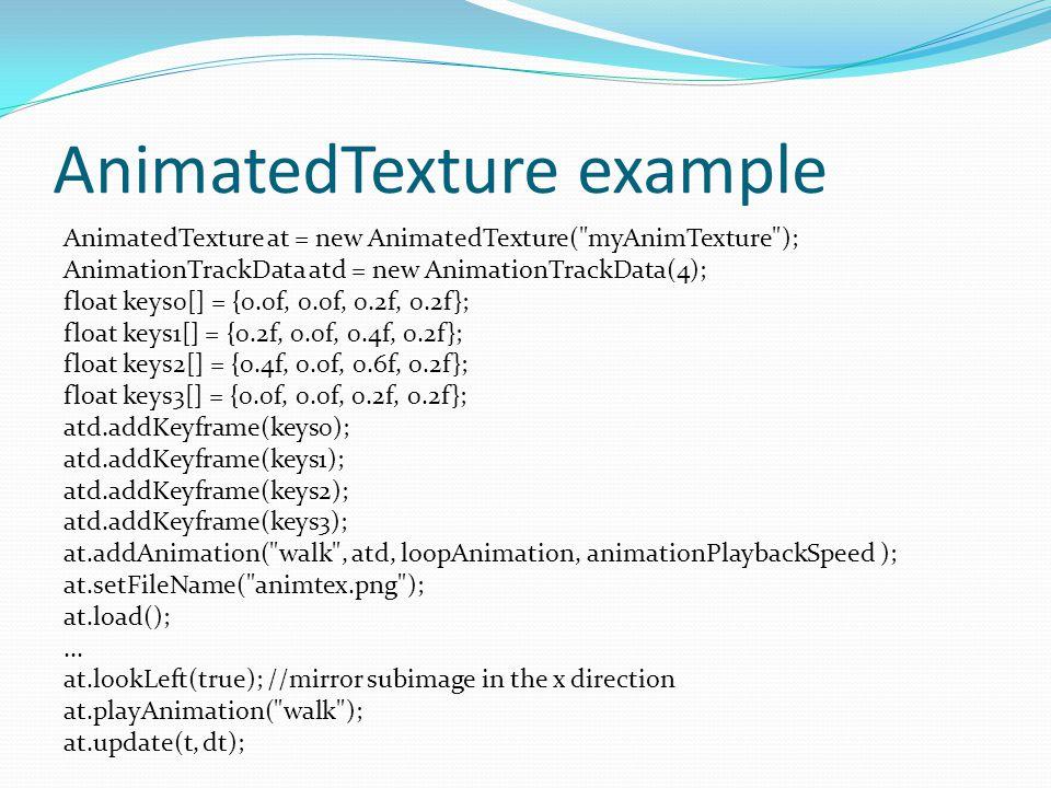 Texture script examples