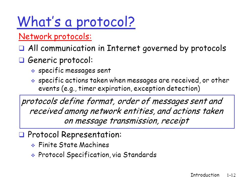Introduction1-12 What's a protocol.