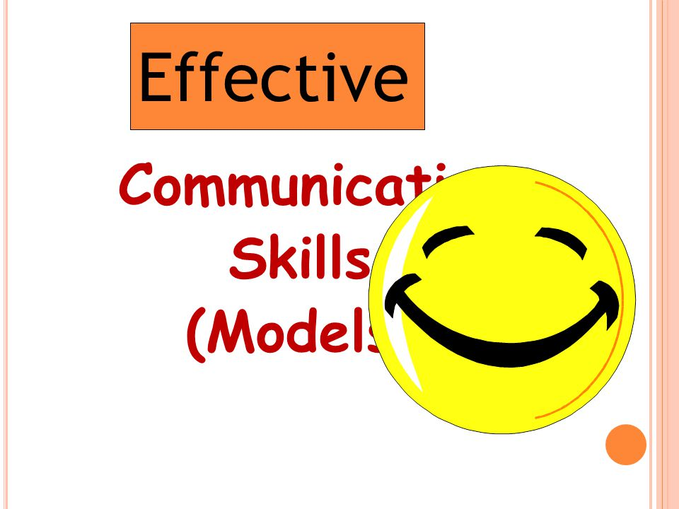 Communication Skills (Models) Effective