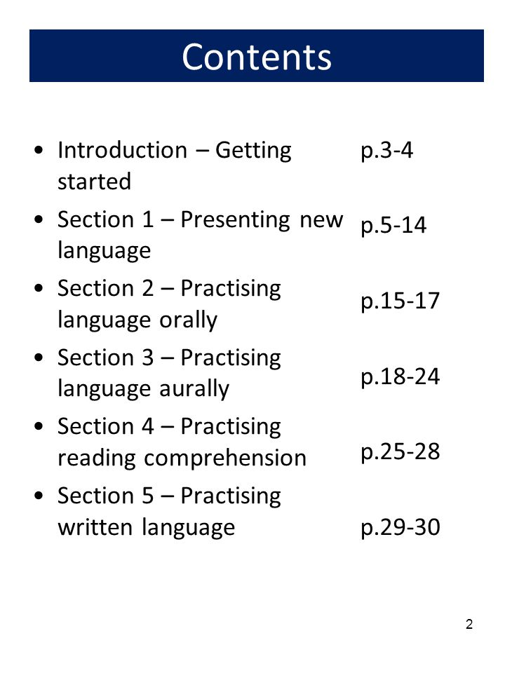3 Introduction: Getting started on a new lesson 1.