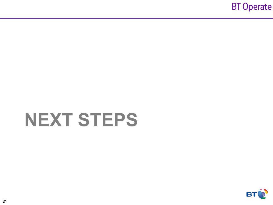 21 NEXT STEPS
