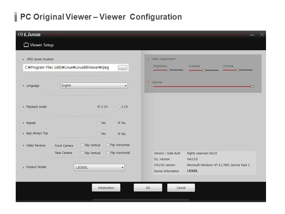 PC Original Viewer – Viewer Configuration