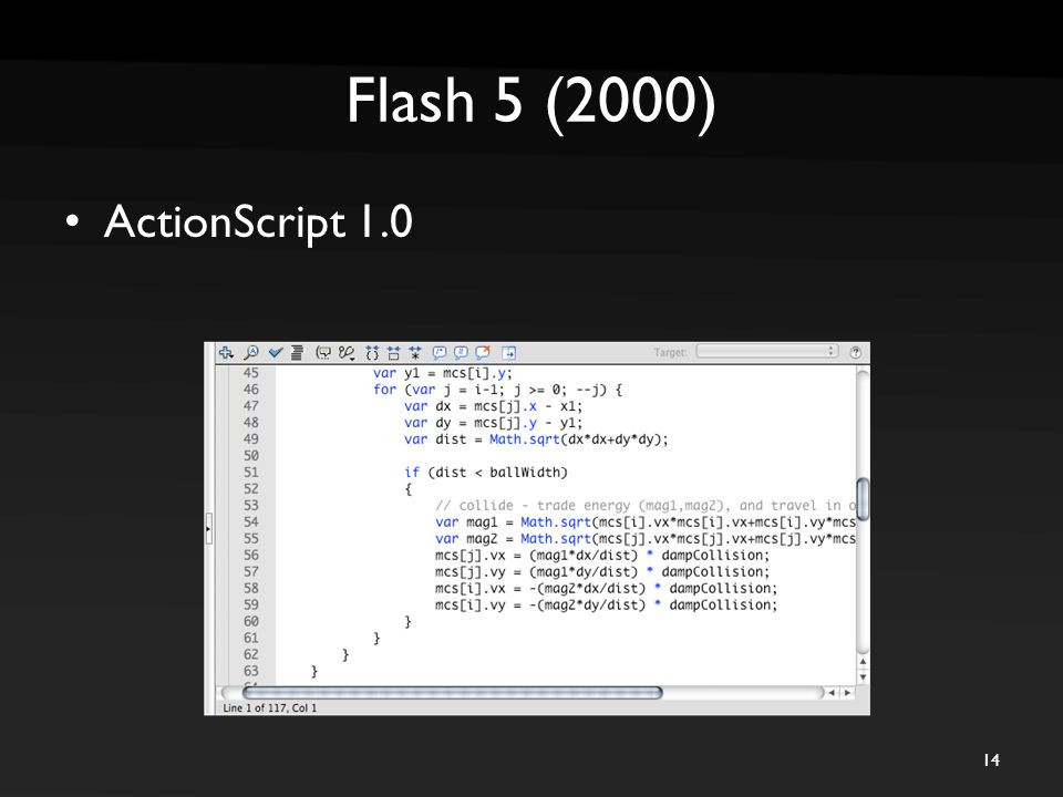 Flash 5 (2000) ActionScript 1.0 14