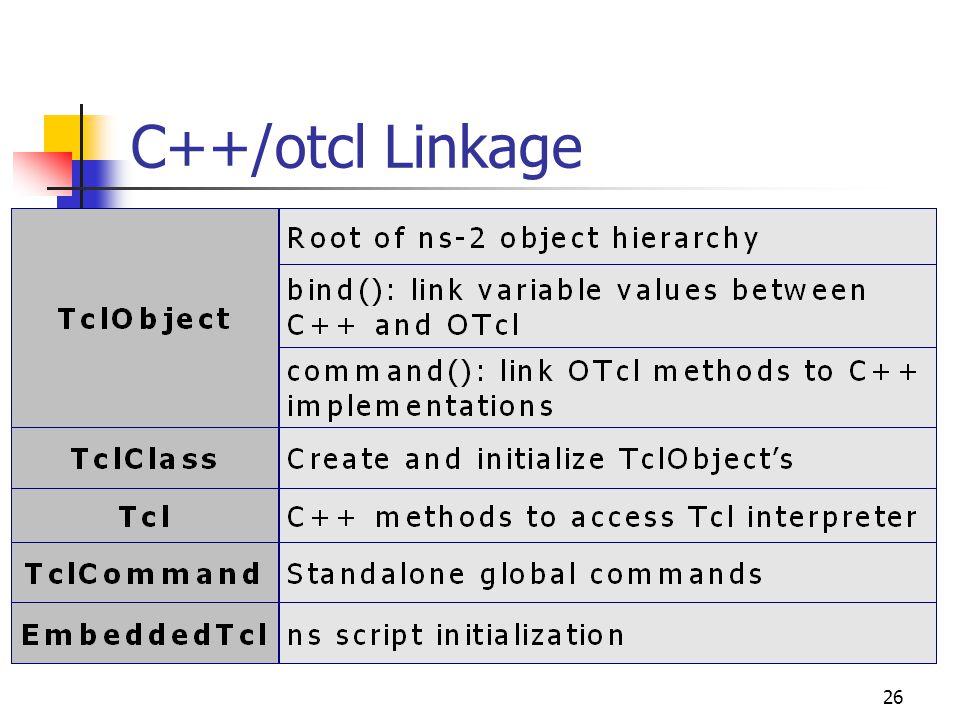 26 C++/otcl Linkage