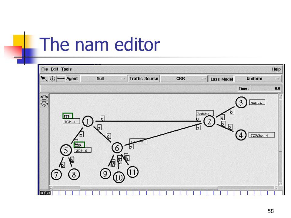 The nam editor 58