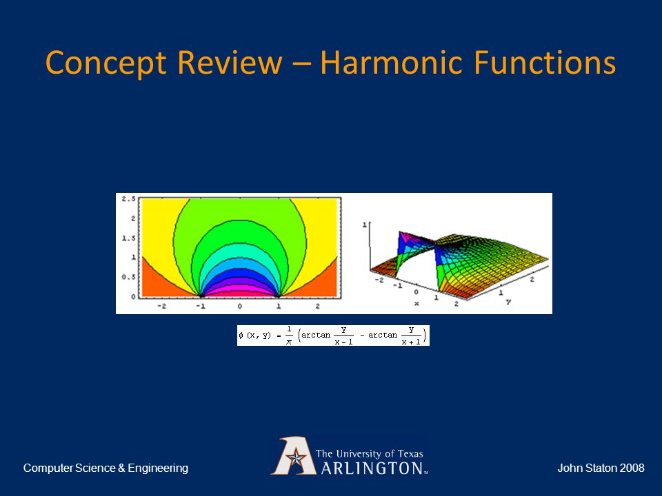 Concept Review – Harmonic Functions John Staton 2008Computer Science & Engineering