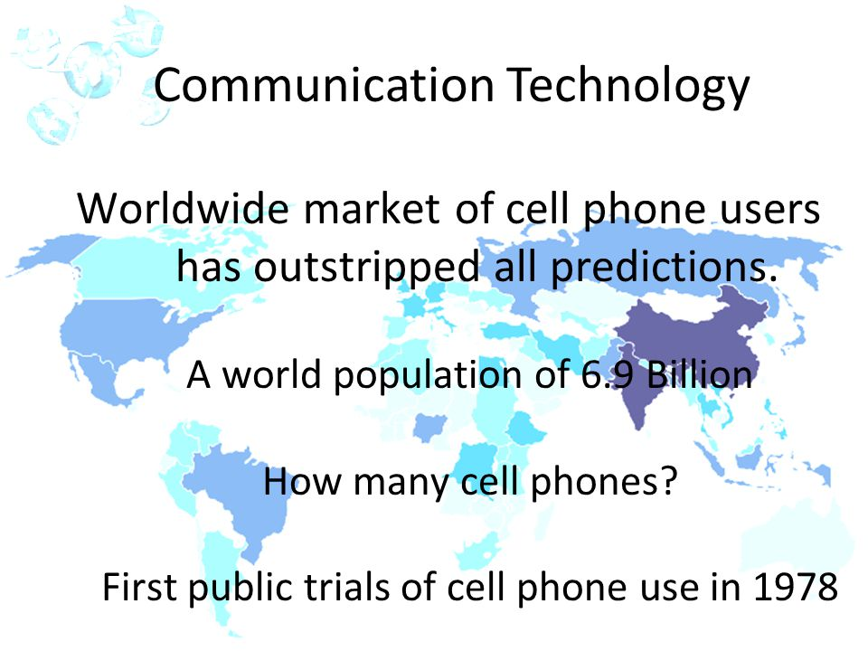 IOT POLY ENGINEERING 2-1 Worldwide market of cell phone users has outstripped all predictions.