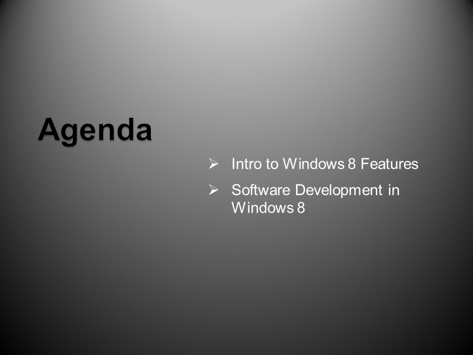  Intro to Windows 8 Features  Software Development in Windows 8