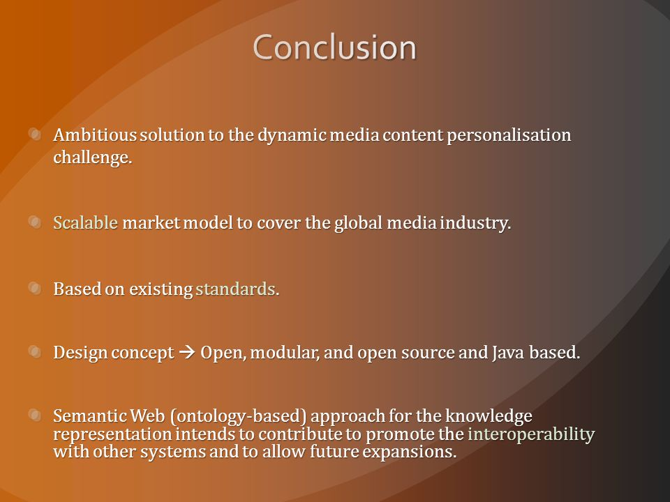 Ambitious solution to the dynamic media content personalisation challenge.