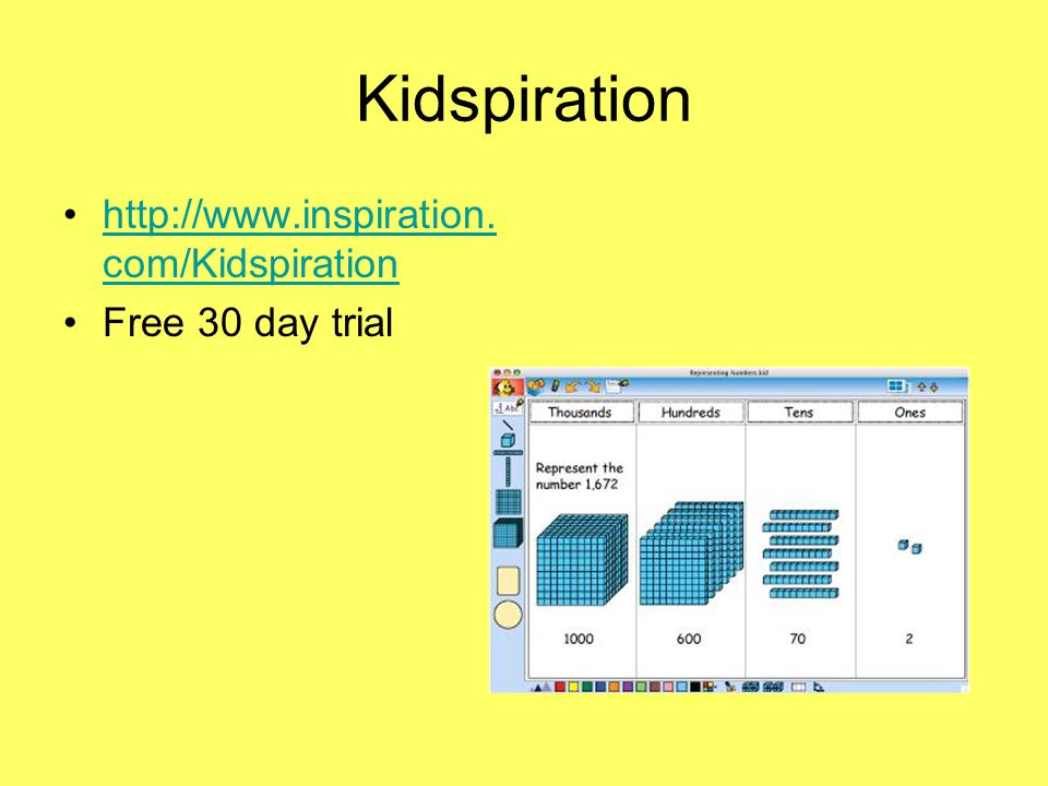 Kidspiration http://www.inspiration. com/Kidspirationhttp://www.inspiration.