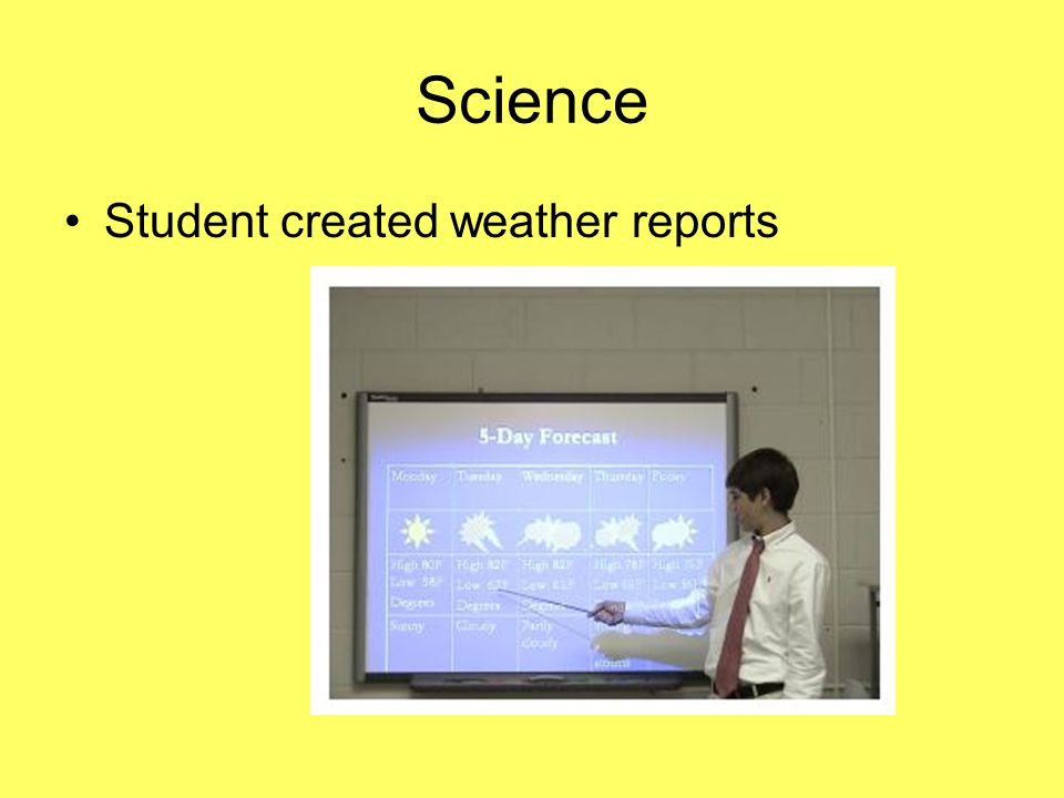 Science Student created weather reports