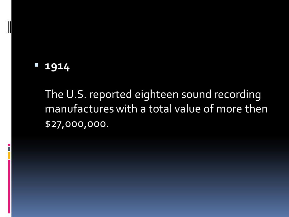  1914 The U.S.
