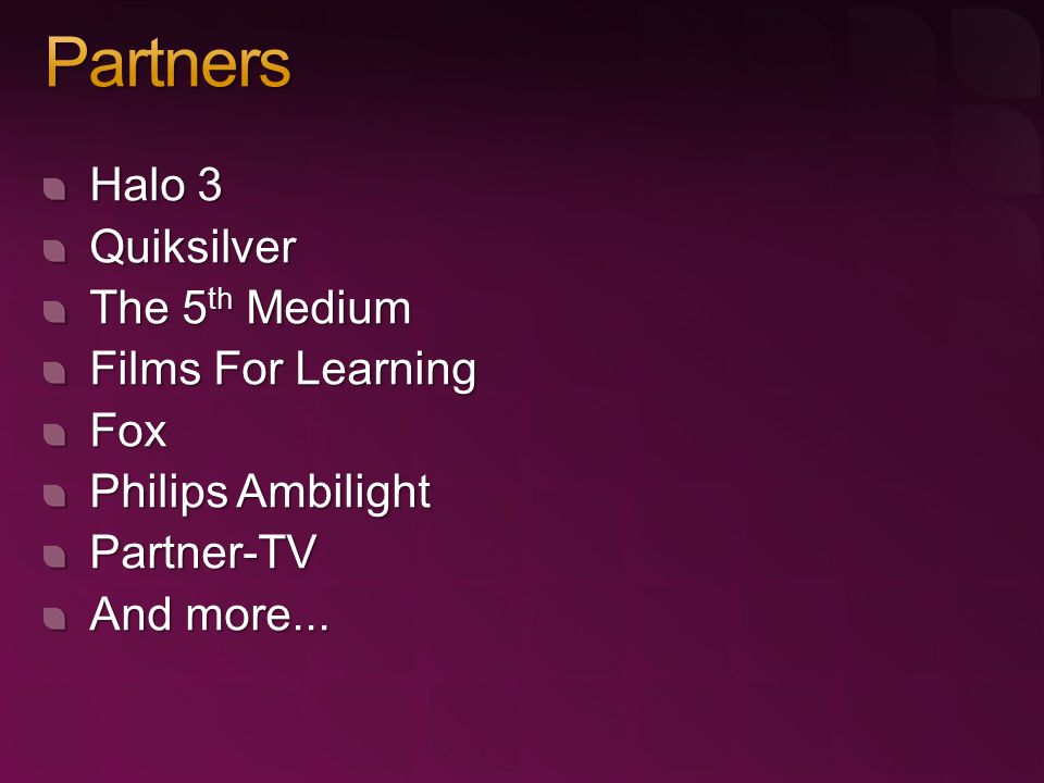 Halo 3 Quiksilver The 5 th Medium Films For Learning Fox Philips Ambilight Partner-TV And more...