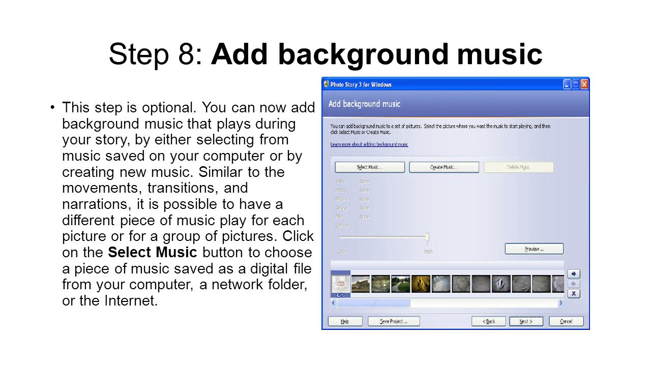 Step 8: Add background music This step is optional.