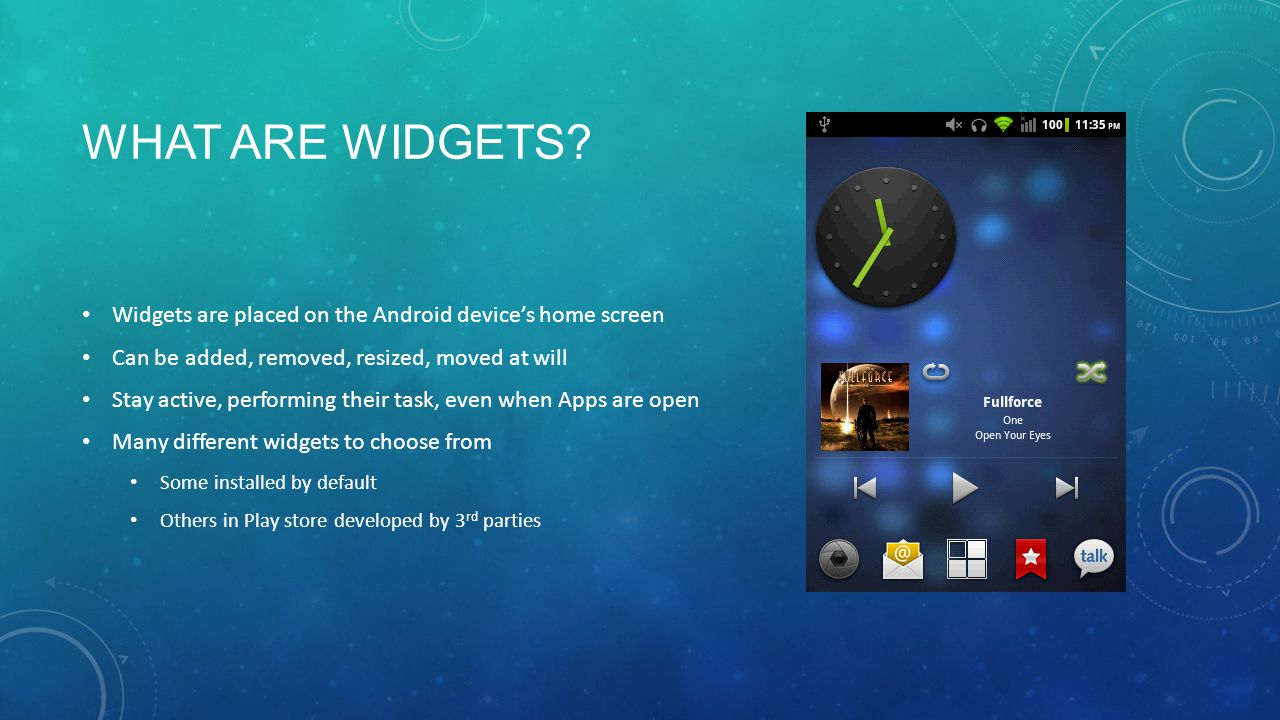 WHAT ARE WIDGETS.