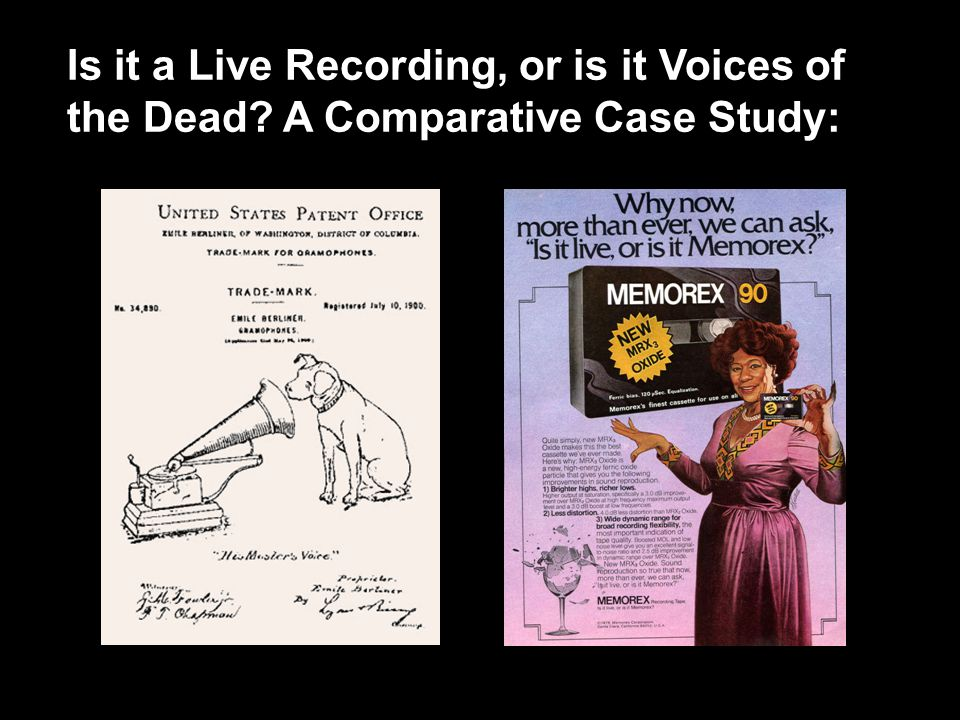 Is it a Live Recording, or is it Voices of the Dead A Comparative Case Study: