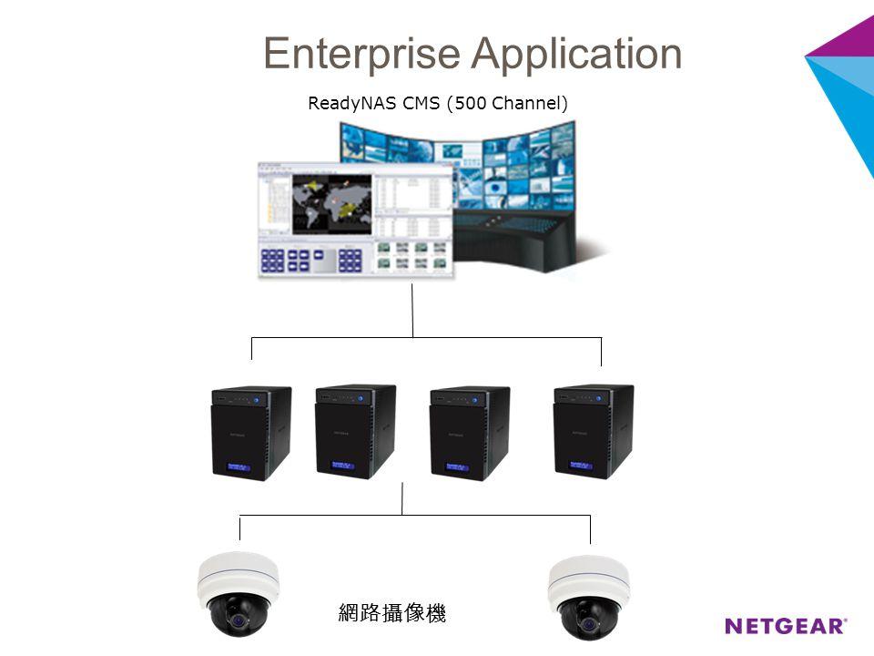 網路攝像機 ReadyNAS CMS (500 Channel) Enterprise Application