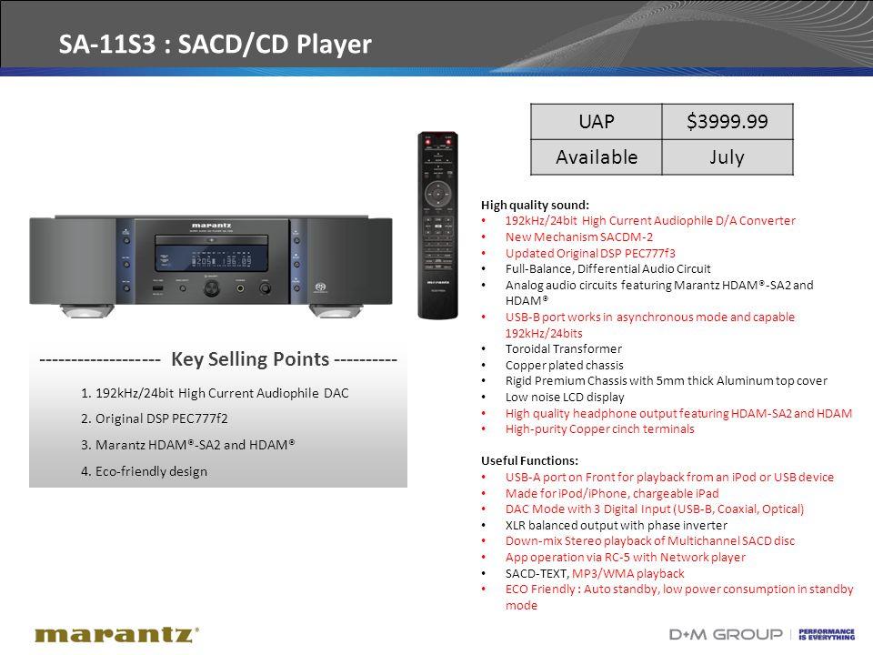 39 High quality sound: 192kHz/24bit High Current Audiophile D/A Converter New Mechanism SACDM-2 Updated Original DSP PEC777f3 Full-Balance, Differenti