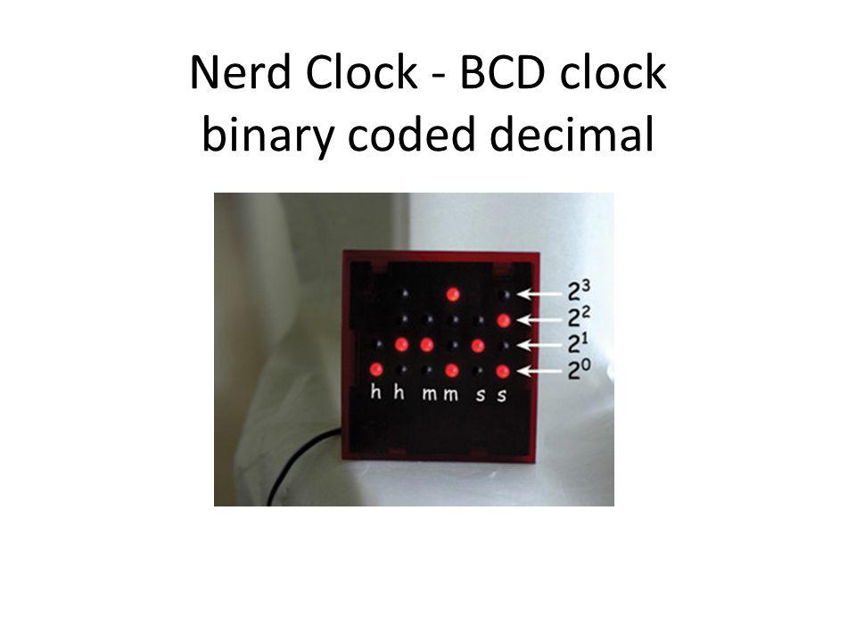 Nerd Clock - BCD clock binary coded decimal