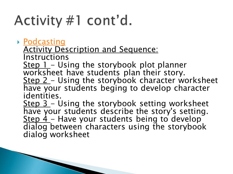  Step 5 - Have students compile their story into a word document.