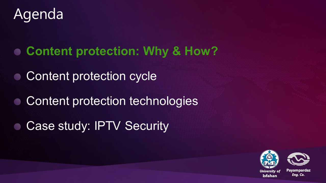 23 Content Protection in the Digital Lifestyle – Behrouz Tork LadaniBOC'2010, 27,28 Dec. 2010
