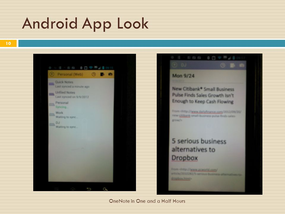 Android App Look OneNote in One and a Half Hours 10
