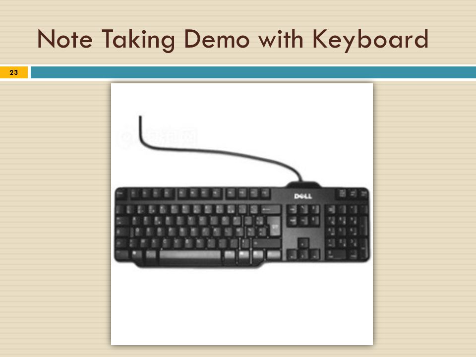 Note Taking Demo with Keyboard 23