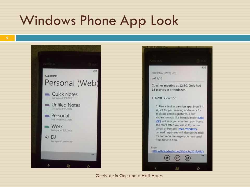Windows Phone App Look OneNote in One and a Half Hours 9