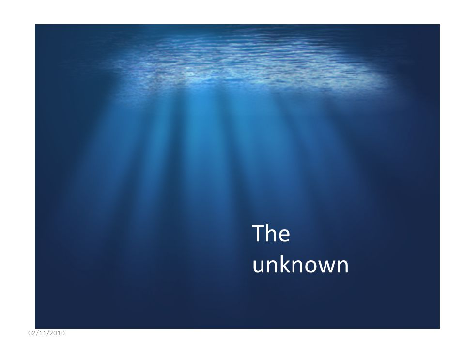 The unknown 02/11/2010