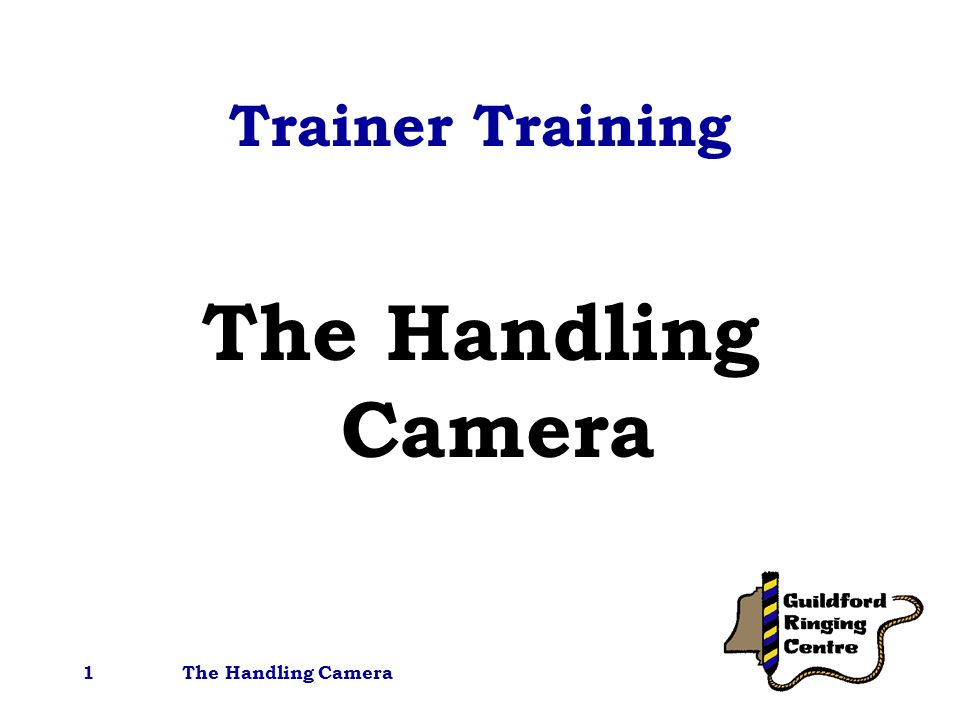 The Handling Camera1 Trainer Training The Handling Camera
