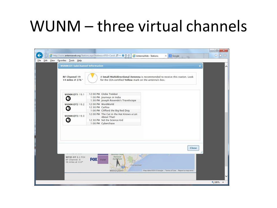 WYDO – two virtual channels