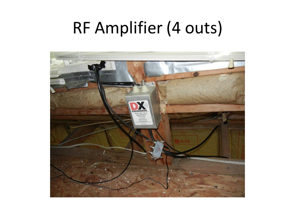RF Amplifier (4 outs)
