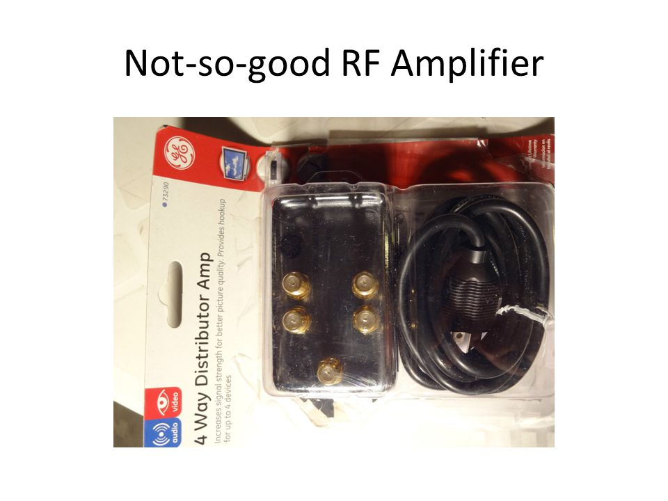 Not-so-good RF Amplifier