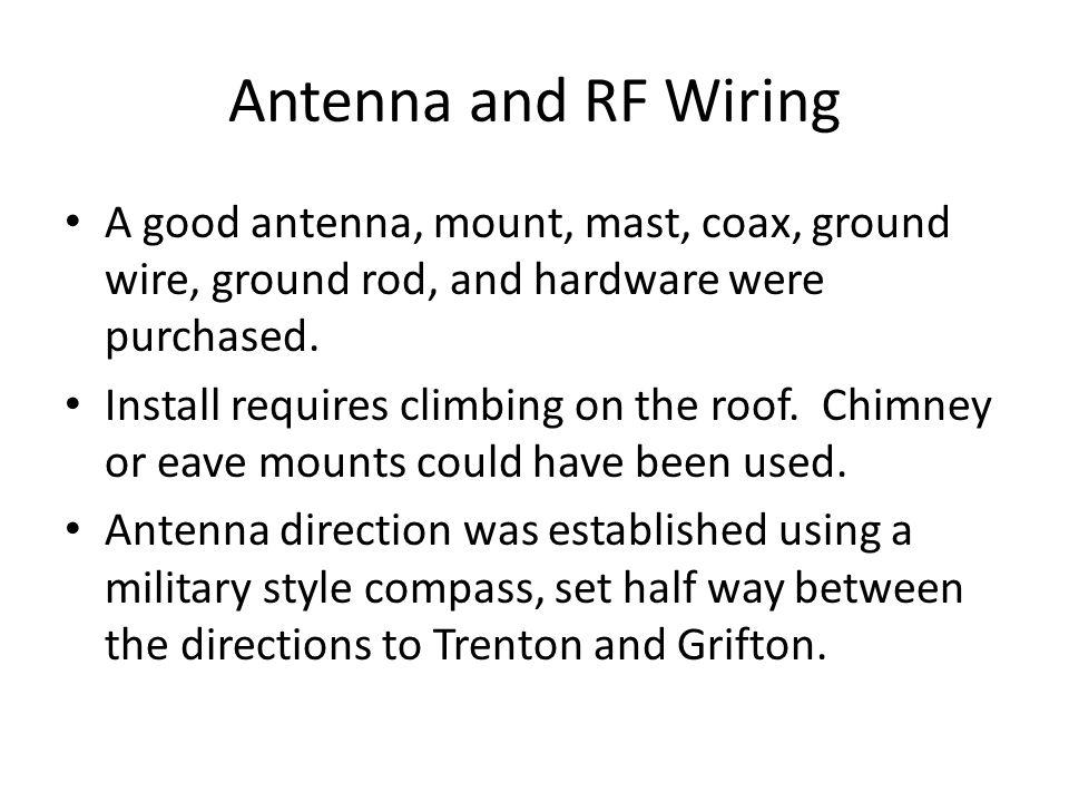 RF Wiring The RG-6U antenna cable goes to the input of an RCA amplifier, outputs go to LR TV, MBR TV, BR TV, and 2 nd RCA Amplifier.