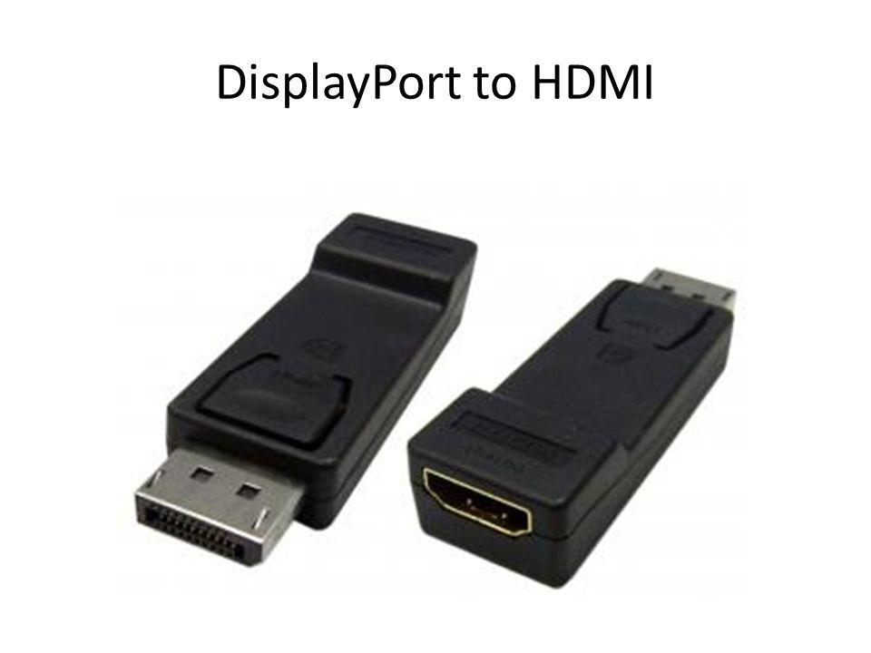 Displayport Types StandardMini