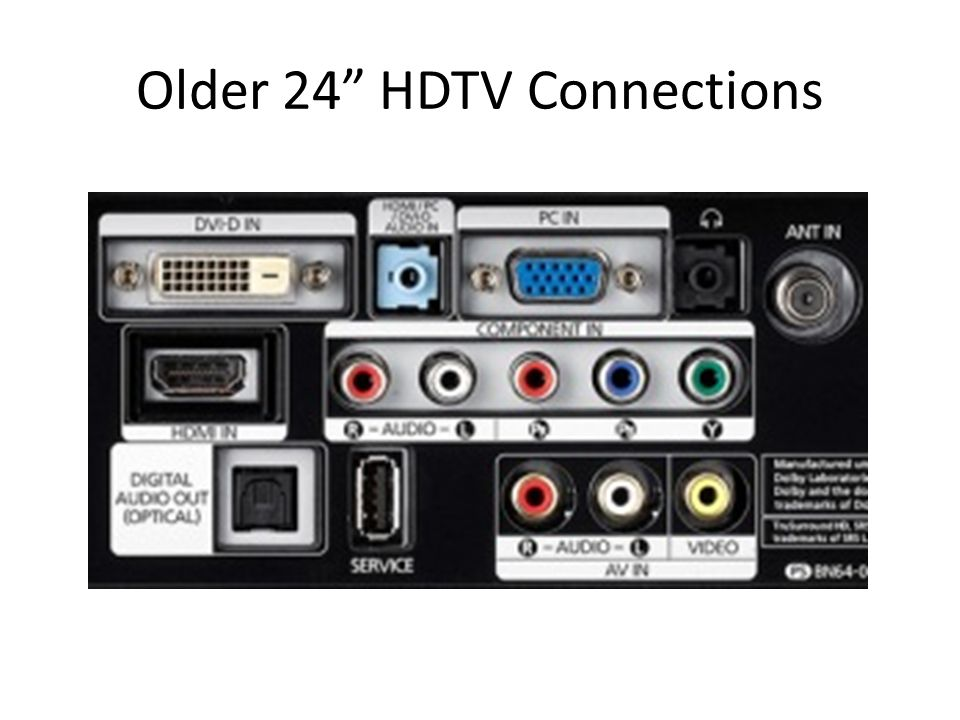 Older 24 HDTV Connections