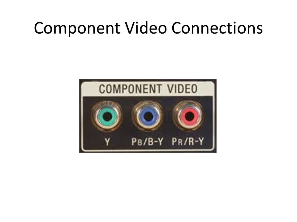 RCA Audio Connections