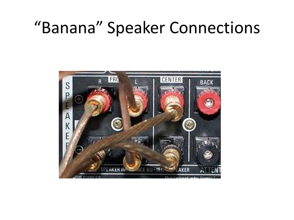 Banana Speaker Connections