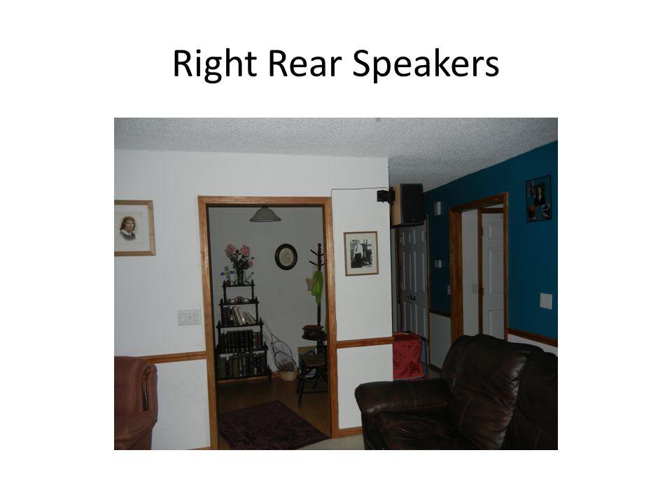 Left Rear Speakers